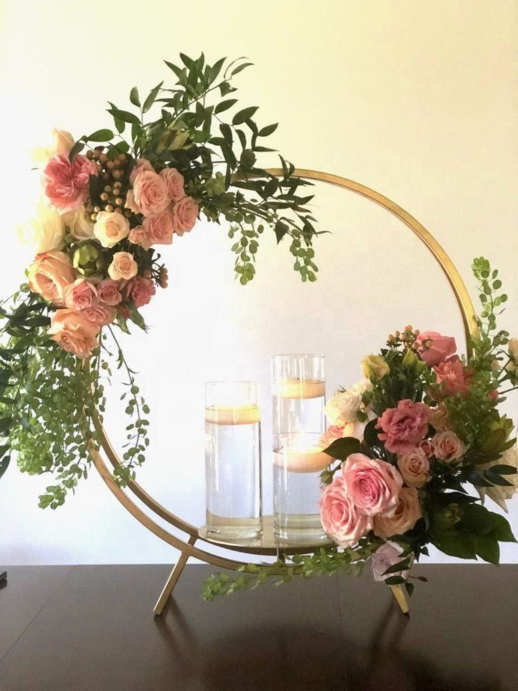 New style Wholesale metal gold candelabras for wedding flower vase floral centerpieces risers decoration senyu0481