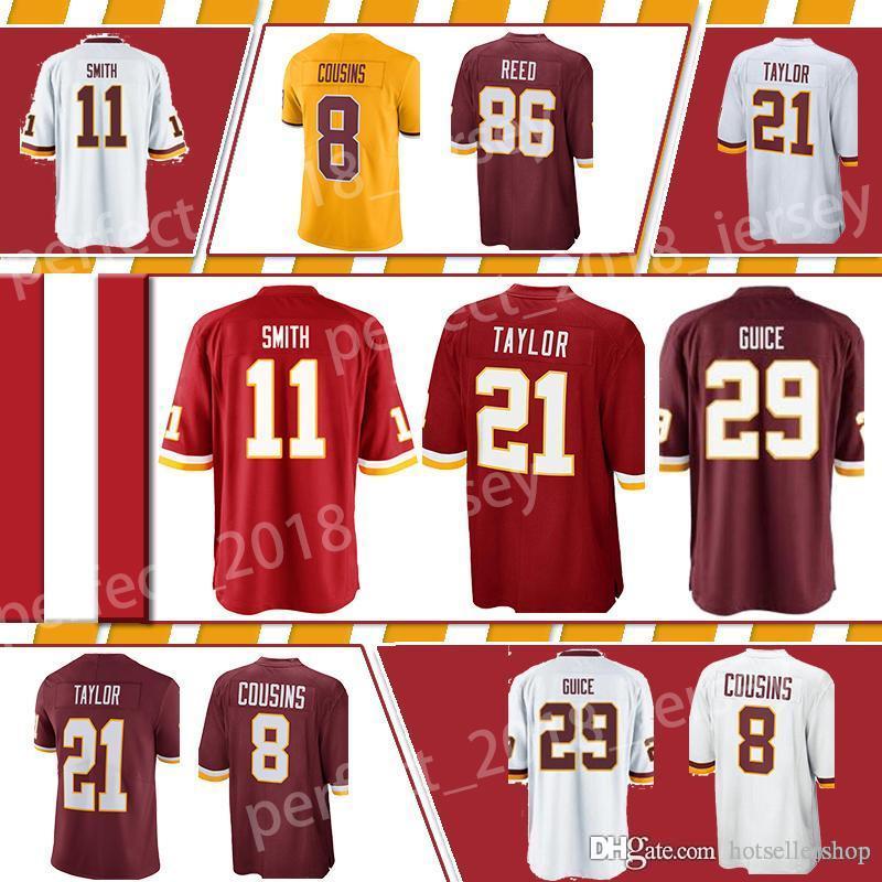 redskins washington football jerseys 91 Ryan Kerrigan 29 Derrius Guice 21  Sean Taylor 86 Reed 8 Kirk Cousins 72 Eric Fisher 95 Da Rontop sal f57b0c7e0
