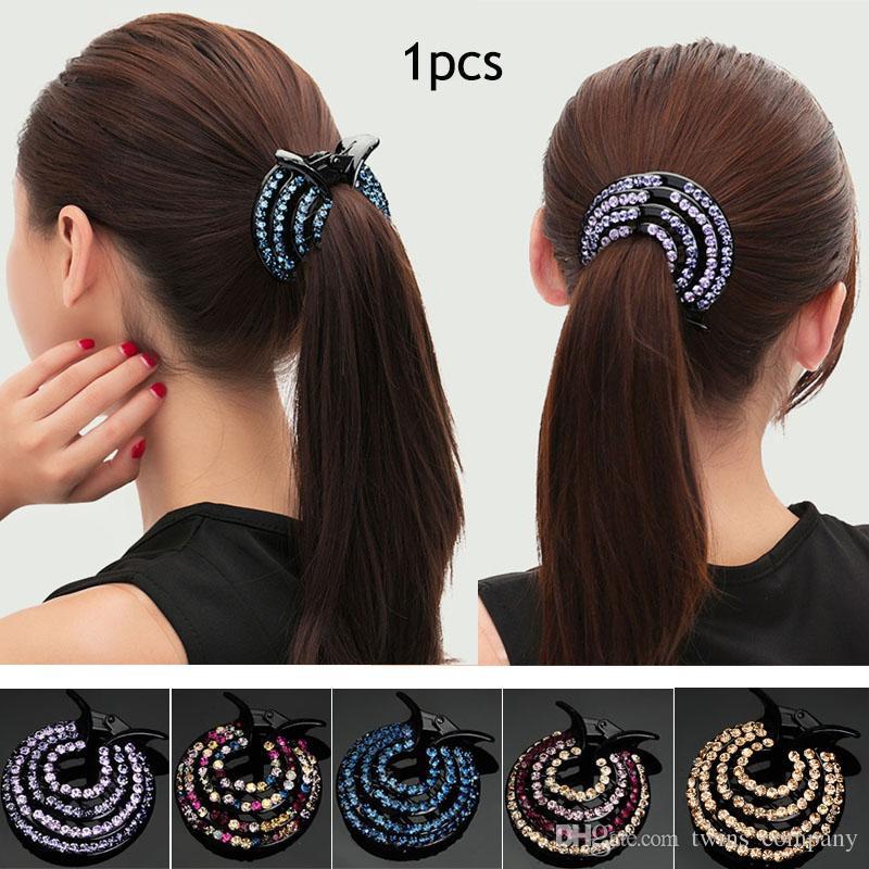 Women Rhinestone Hair Clip Ladies Hairclaw Girls Headwear Hair Pin Fashion Hair Accessories Girls Hair Accessories Online Wedding Hair Accessories From Twins Company 1 81 Dhgate Com