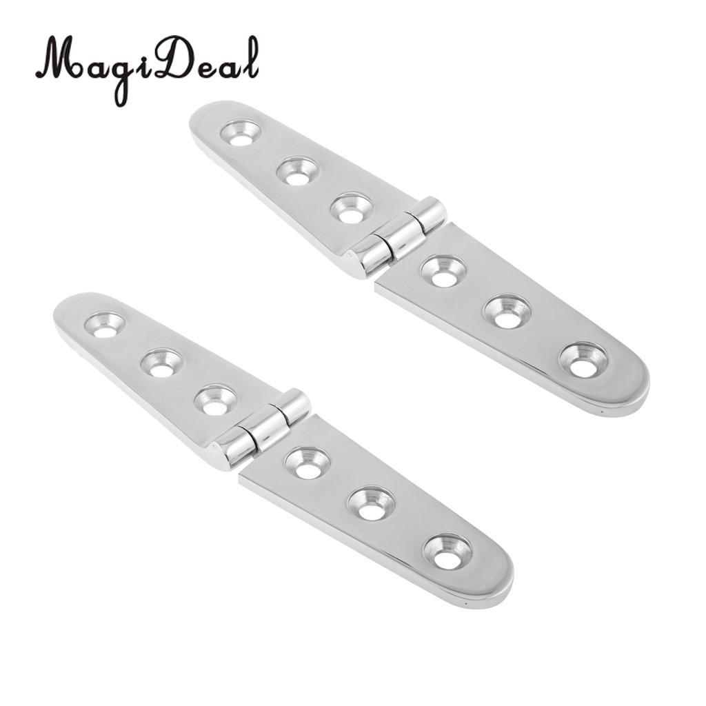 """Stainless Steel Marine Heavy Duty Wide Strap Hinges 4/"""" or 6/"""""""