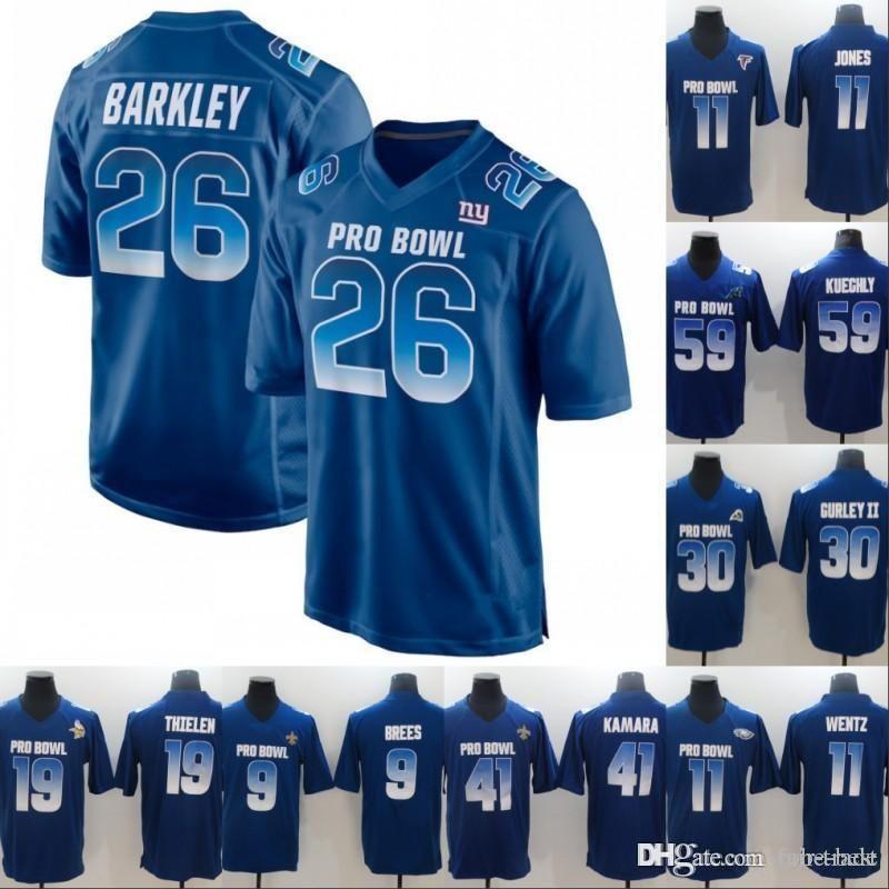 low priced a57da 71ec6 2019 2019 Pro Bowl NFC Mens 19 Adam Thielen 41 Alvin Kamara 11 Carson Wentz  3 Russell Wilson 52 Khalil Mack 86 Zach Ertz Royal Blue Jersey From Fair ...
