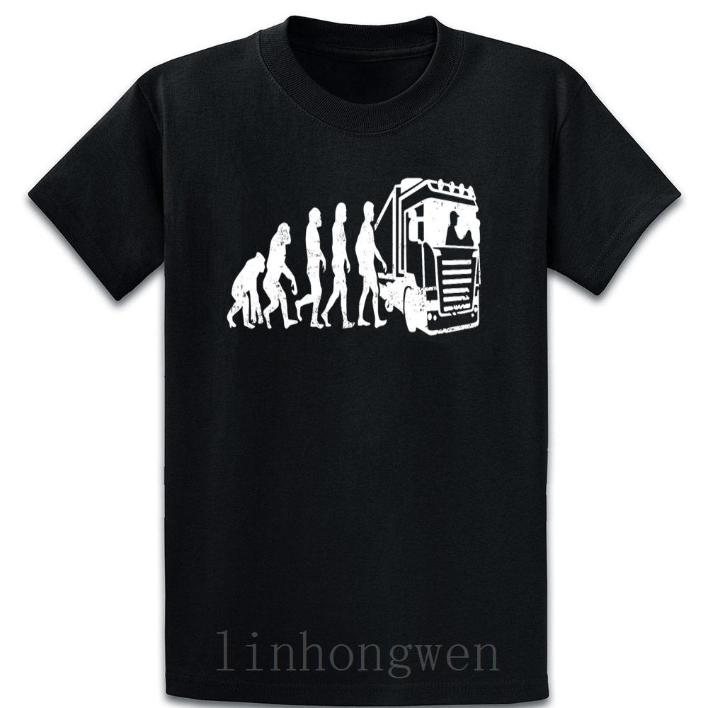 Komik Bahar Sonbahar 5XL Komik Evolutions Trucker Tasarım t shirt artı boyutu Kıyafet Sunlight Doğal Kısa Kollu kişiselleştirilmiş