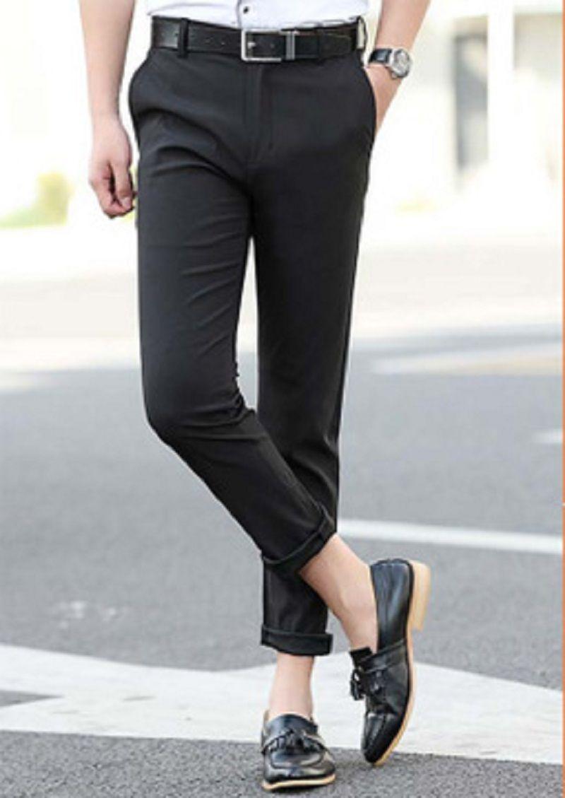 Pantalones casuales para hombre Capris pantalones de chándal de verano pantalones de chándal de diseñador para hombre delgado estilo coreano pantalón negro delgado