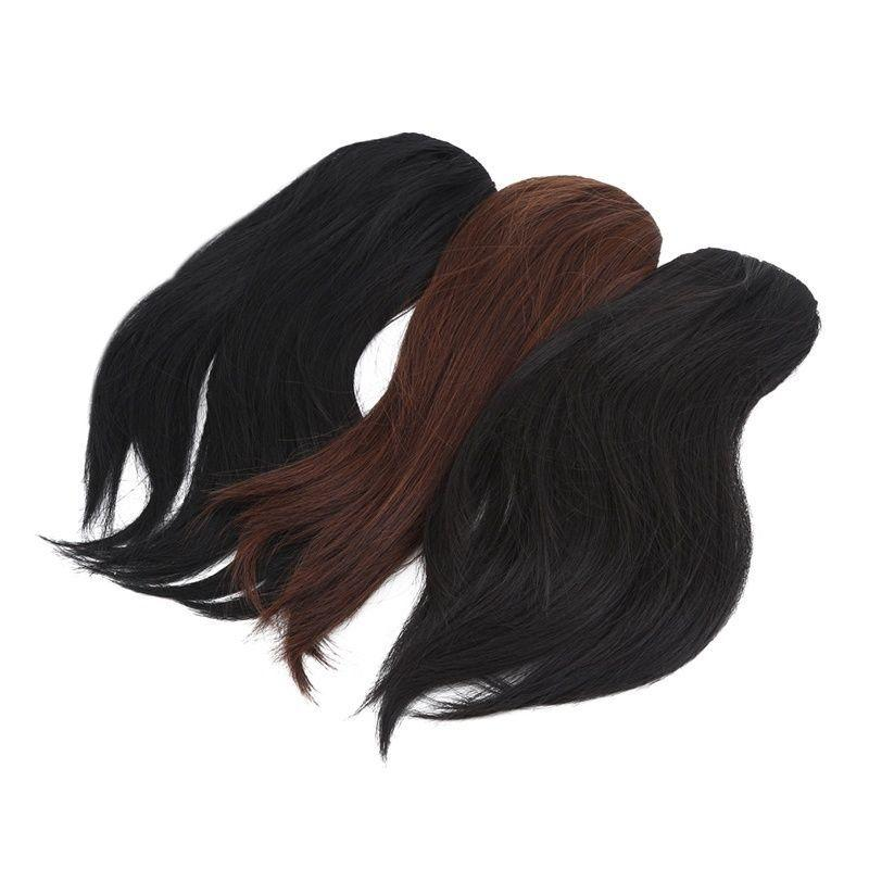 Niñas Haire Extensión Bangs derecho Clip pieza Wigy en ClipY En Frente Hairy Bangy pelucas para las mujeres negras del cabello humano
