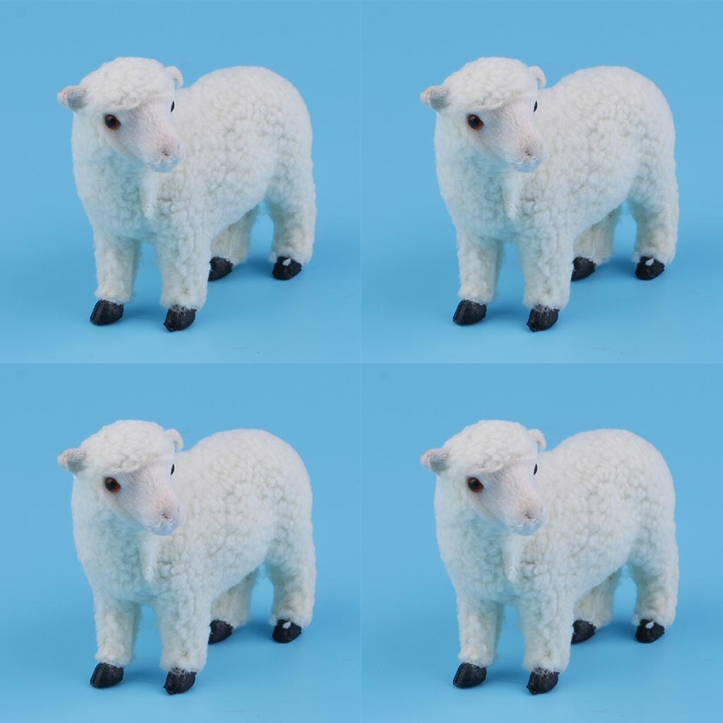 4pc piedi Simulazione Animali Home Decoration ornamenti Scultura