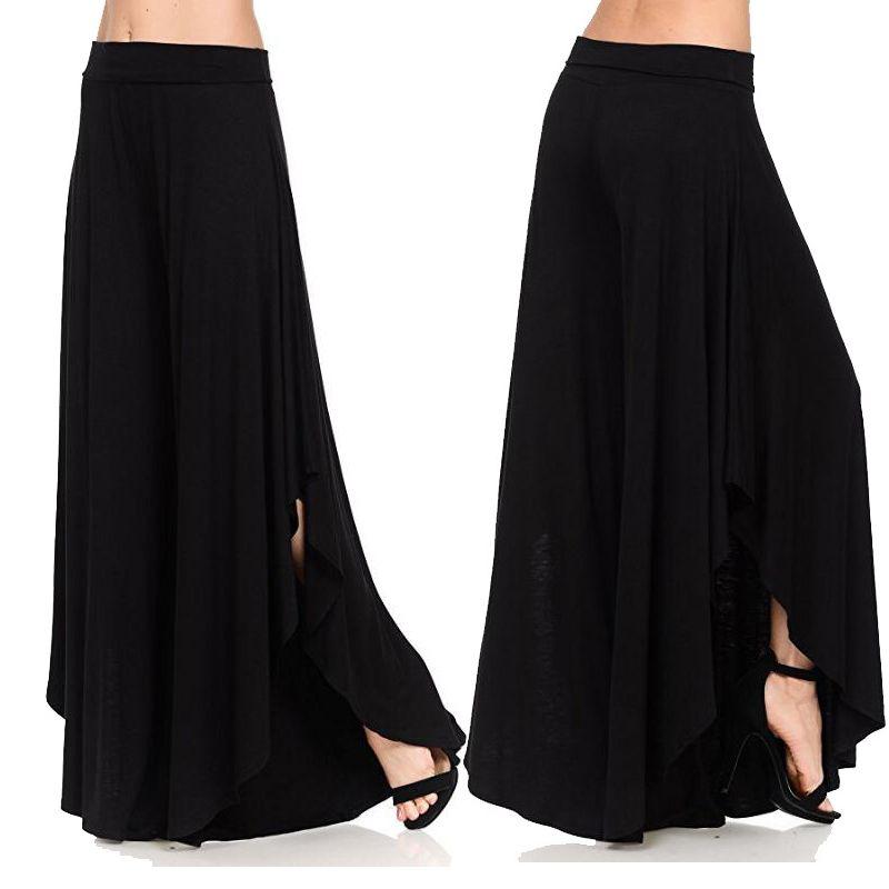 2019 été Sarouel Femmes ÉTIREMENT Pantalon taille Joggers Femmes Taille Plus Noir en vrac jambe large Femme