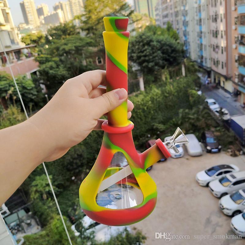 2019 nouveau verre Bong eau Bongs en verre Phare tube de forme de conduites d'eau pipes de bongs