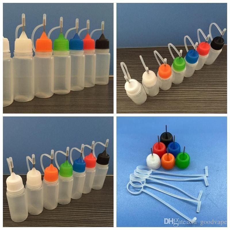 Мини 10 мл PE красочные заполненные бутылки магазин коробка для хранения портативный высокое качество для Vape масло RDA бак испаритель распылитель горячий торт