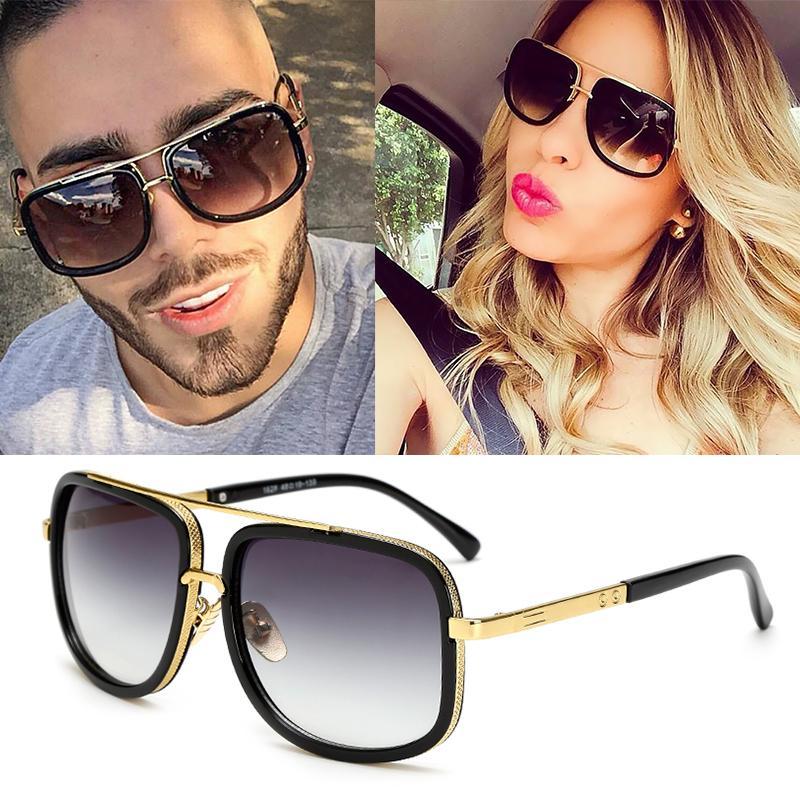 الحار! المتضخم رجل إمرأة نظارات شمس رجل إمرأة نظارات شمسية ساحة ذكر Gafas دي سول النظارات الشمسية النسائية ل1828