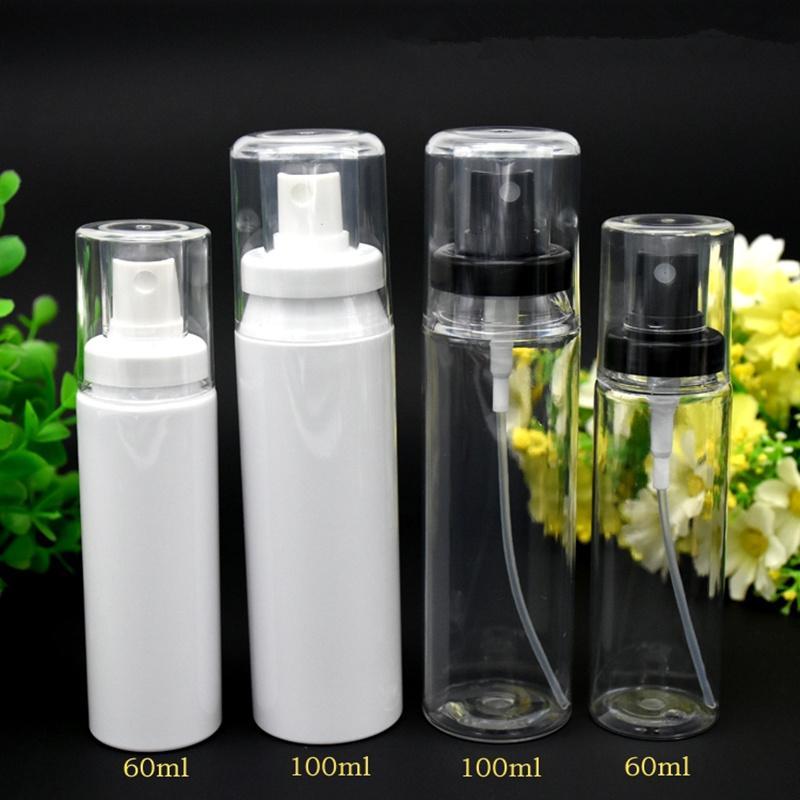 60 ML 100 ML 120 ML atacado vazio PET atomizador spray frasco, redondo 60 ML frasco transparente pulverizadores, comprar barato 60 ml spray frasco F2017365