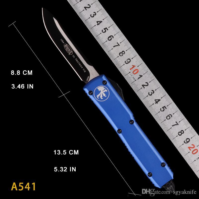 4 renk 85 Otomatik çift eylem Taktik bıçak D2 Survival bıçak EDC aracı katlama bıçakları cebi hediye UTX knive otomatik mikro teknoloji işlemek