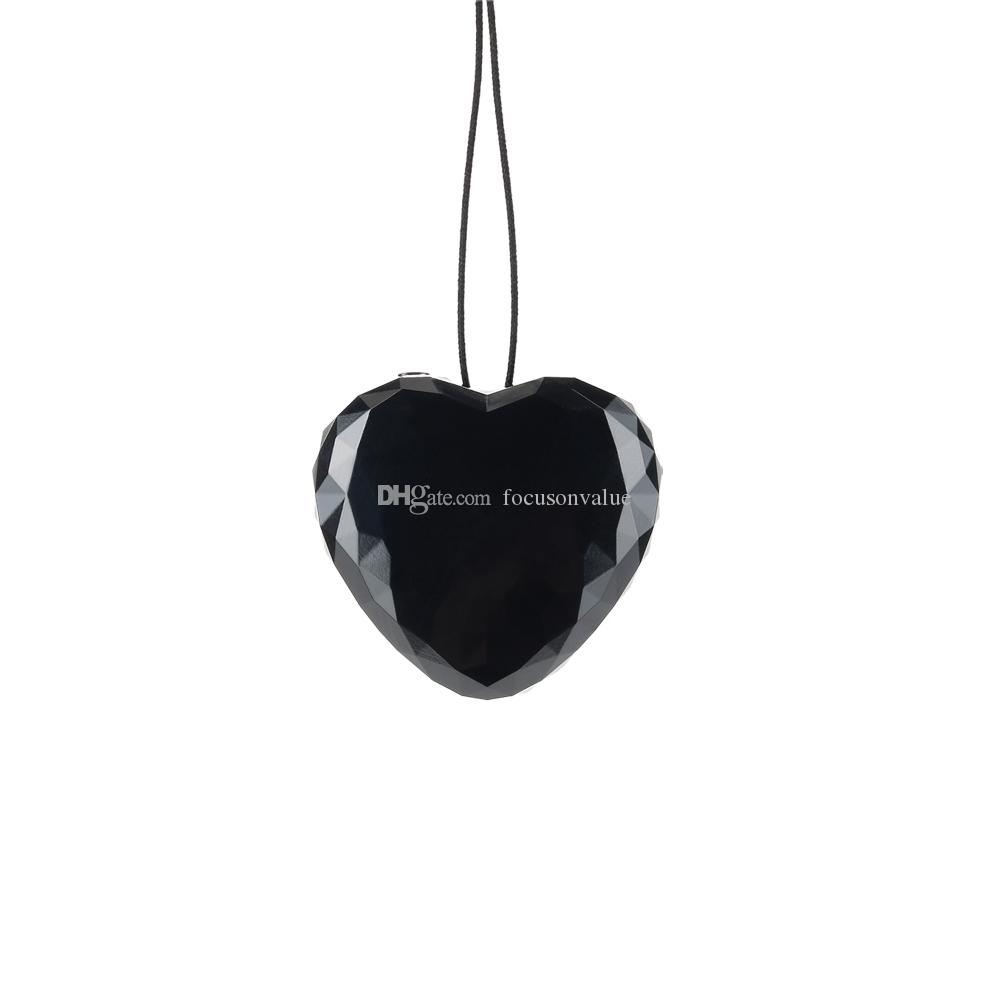 Heart shaped Key chain mini digital voice recorder 8GB 16GB Wearable Necklace Pendant Voice Activated Audio Recorder with retail box