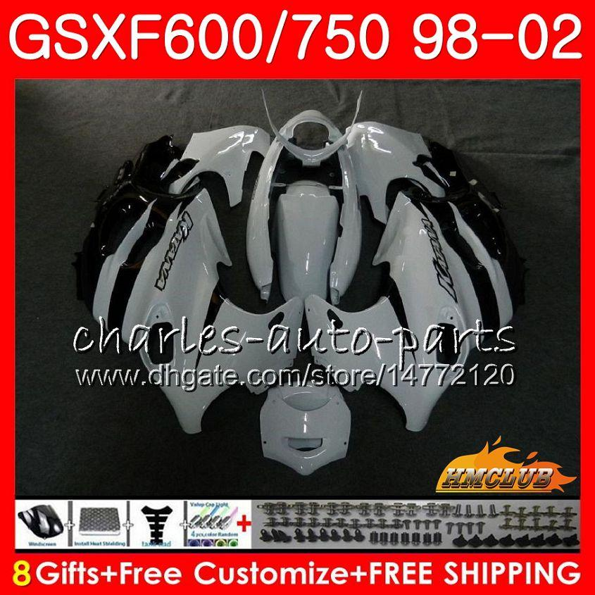 Ciało dla Suzuki Katana GSXF 750 600 GSXF600 98 99 00 01 02 2HC.26 GSX750F GSX600F GSXF750 White Black 1998 1999 2000 2001 2002 Zestaw targowy