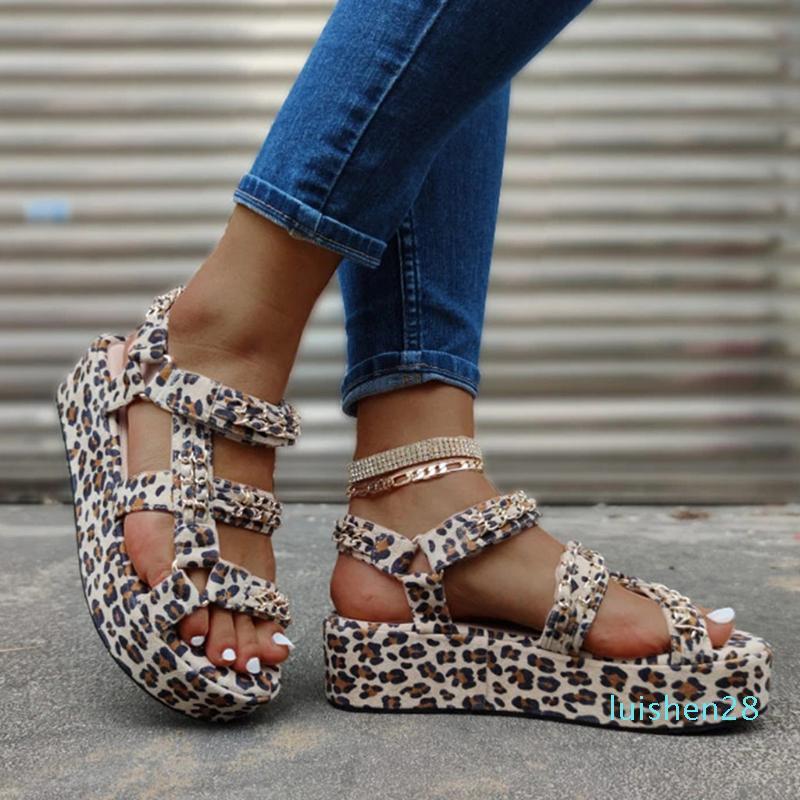 YOUYEDIAN más el tamaño 34-44 señoras a estrenar de lujo coloridas cuñas sandalias de gladiador zapatos de fiesta de verano de la mujer mujeres de las sandalias 2020 28l