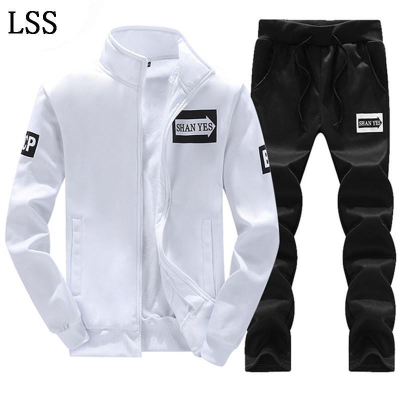 Men Set 2PC Zipper Autumn Male Casual Tracksuit Men's Sets Male Sweatshirt Jacket + Pants 2 Piece Set Male TZ-2