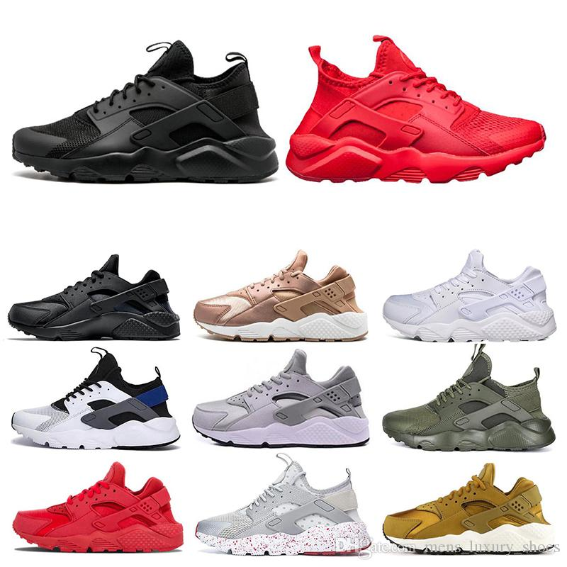 New Huarache 4.0 1.0 Triple White Black red grey yellow men women huarache shoes Huaraches sports Sneakers Running Shoes size 36-45