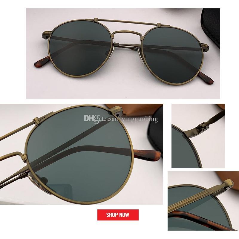 2019 المعادن جولة خمر نظارات المرأة مرآة الكلاسيكية الرجعية شارع فاز خمر نظارات الرجال القيادة oculos دي سول gafas 8147 50 ملليمتر