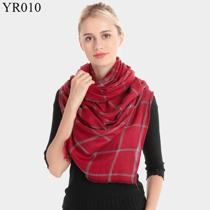 2019 Winter Thickening Keep Warm Scarf Woman Lattice Imitate Cashmere Scarf Shawl