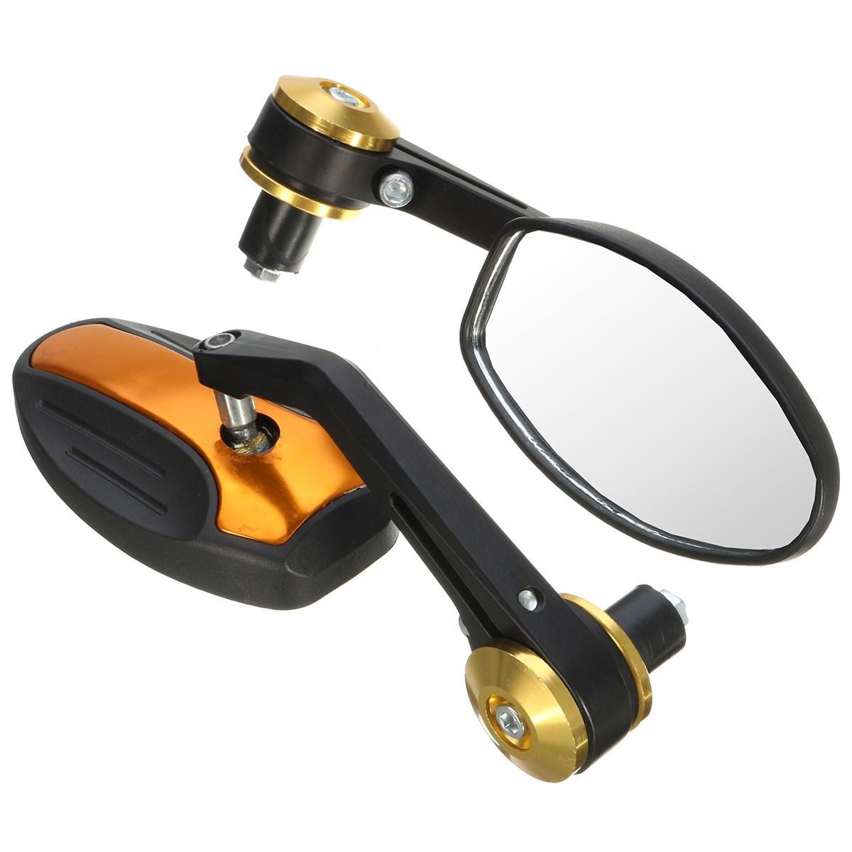 1 Paar Universal-7/8 '' Motorrad Aluminium Rückansicht Seitenspiegel Bike Spiegel Lenkerende 360 Grad im Freien Fahrrad Spiegel