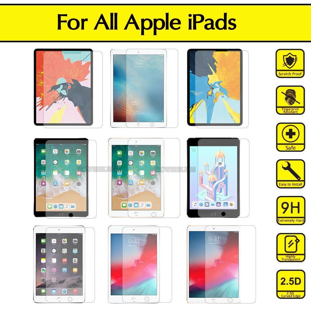 iPad Air 4 10.9 2020 10.2 2019 7th Gen Pro 9.7 11 12.9 Air 2 Mini 4 3 2 얇은 힘든 9H 클리어 강화 유리 화면 보호기 저렴한 필름