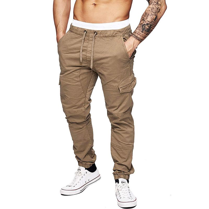 Men's Joggers Tactical Casual Pants Hip Pop Cargo Overalls Multi-pocket Sports Black Trousers Harem Male Streetwear Sweatpants T200415