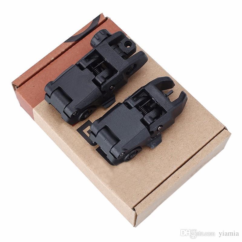 20 мм Rail GEN1 Тактический складной / задний Flip Backup Достопримечательности BUIS Набор 2 шт.