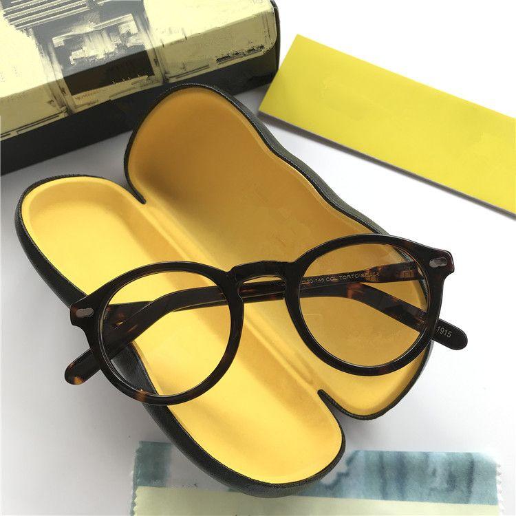 2020 de haute qualité Johnny depp étoiles lunettes optiques cadre 46-23-145-planche pur petit-face des lunettes de prescription cadre de cas complète-set