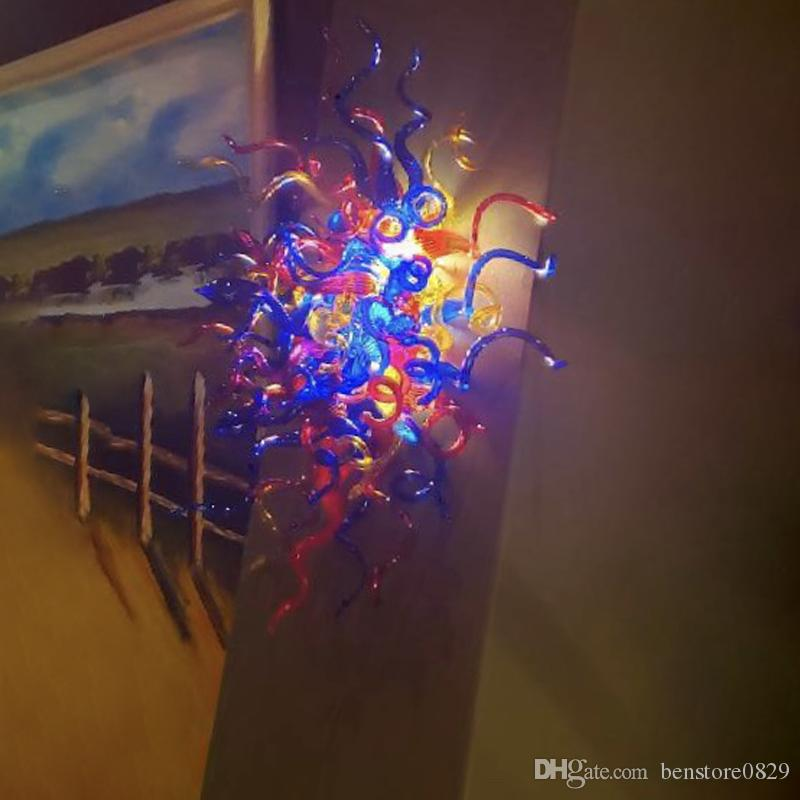 Italian Style Design Handmade Blown Glass Wall Lamps Colored led Mounted Fixture Murano Glass Decorative Wall Sconce