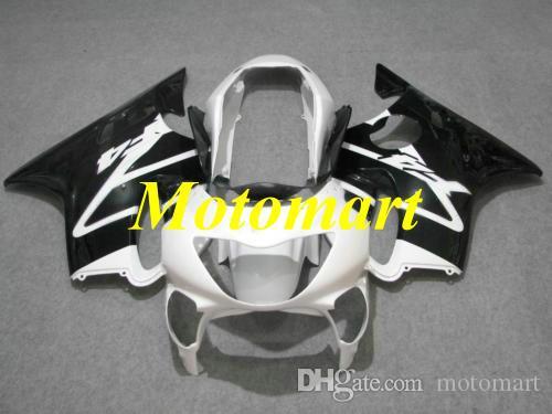Injection mold Fairing kit for HONDA CBR600F4 99 00 CBR 600 F4 1999 2000 ABS White black Fairings set+gifts Hi01