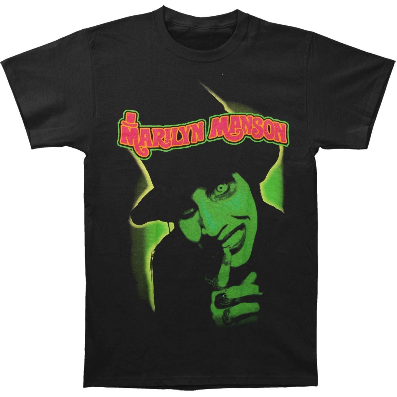 Marilyn Manson mens tshirts 캐주얼 블랙 여름 2019 긴팔 티셔츠 남자 패션 satan tee shirt homme