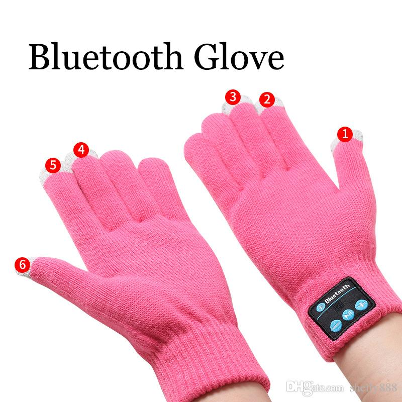 Touch Bluetooth Gloves Winter Touch Gloves Knit Gloves Mittens Men For Mobile Phone Wireless Smart Headset Speaker Vibration free shpping