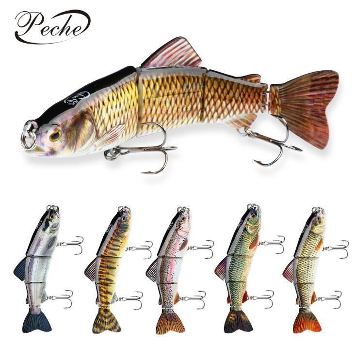 Wobblers Swimbait crankbait Sert Balık Yemi İle İki Üçlü Kanca Batan 18.3cm 78g Balıkçılık Lure Multi Belden 4 segements Pike Muskie