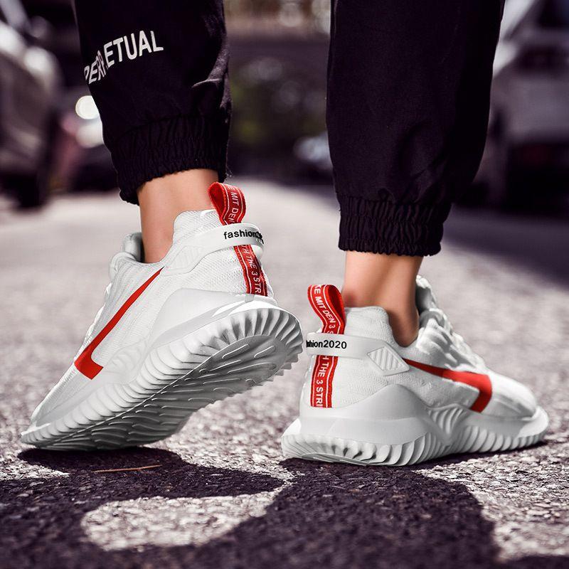 Zapatos para correr para mujer para hombre de los entrenadores deportivos de atletismo de los hombres rojos de moda negras en los formadores de diseño zapatillas de deporte 39-45 Eur 156D