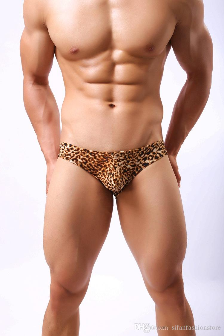 Sexy Underwear Cueca Boxer Men Mesh Shorts Plus Size LeopardMen's Clothing Boxers Panties Shorts Sexy Fat Guy 100kg Mens Shorts