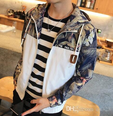 2019 весной и осенью новая мода тонкий молодежный мужской пиджак с капюшоном тонкий пиджак бренд случайный ветровка куртка высшего качества