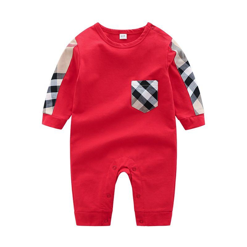 Yaz Toddler Bebek Bebek Erkek Tasarımcılar Giysileri Yenidoğan Tulum Uzun Kollu Pamuk Pijama 0-24 Ay Tulum Tasarımcıları Giyim Çocuk Kız