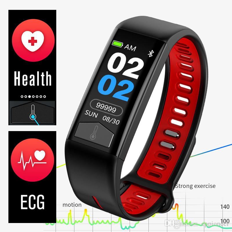 For Apple ECG Smart Bracelet Wristband watch Fitness Tracker with Body Temperature thermometer Heart Rate Monitor Weather Display