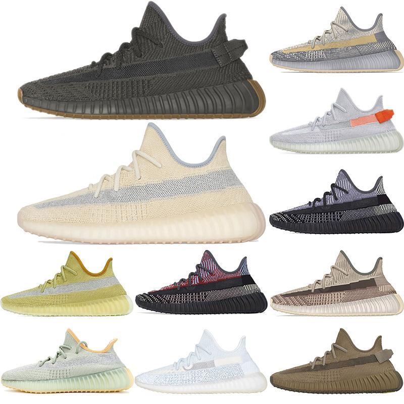Toprak Stilist Kanye West Kuyruk Işık Desert Marsh Keten Erkekler Eğitmenler Koşu Ayakkabı Yeacheil Yeezreel Siyah Statik Yansıtıcı Kadınlar Sneakers