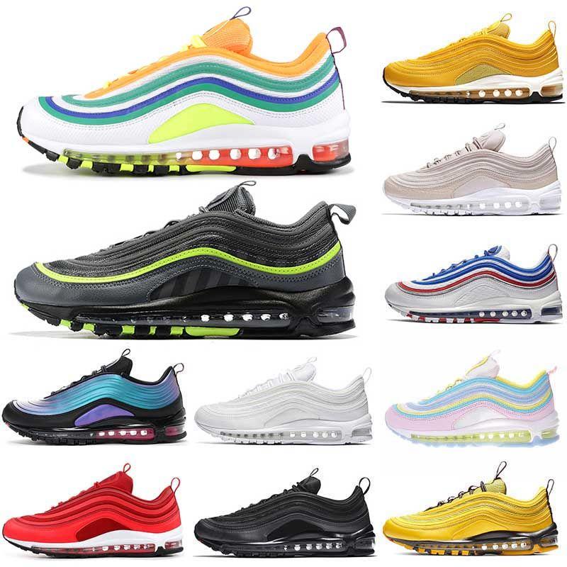 2019 Nike Air Max 97 Vapormax zapatillas de running para hombre mujer triple blanco negro OG metalizado dorado STAR UNDEFEATED zapatillas de diseñador de medianoche