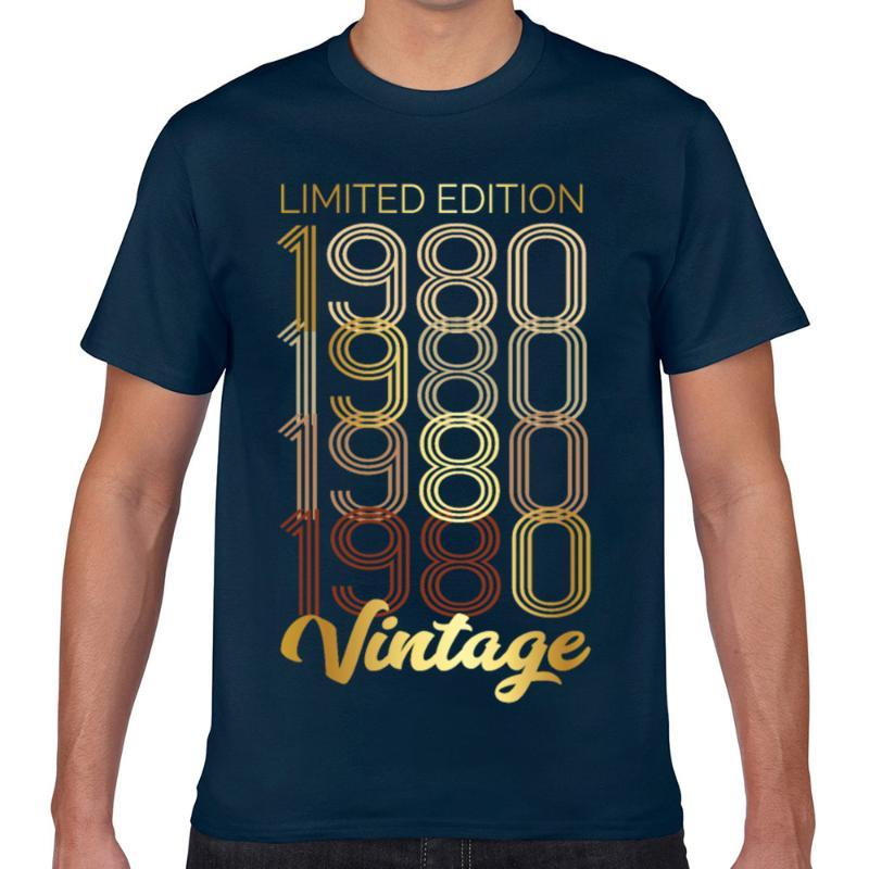 Tops T Shirt Men birthday 1980 limited edition Hip Hop Vintage Print Male Tshirt