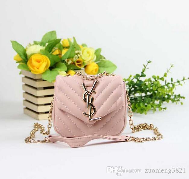 어린이 지갑 핸드백 작은 아기 소녀 메신저 가방 선물 유아 지갑 아이 브랜드 로고 미니 메신저 가방 어린이 어깨 가방