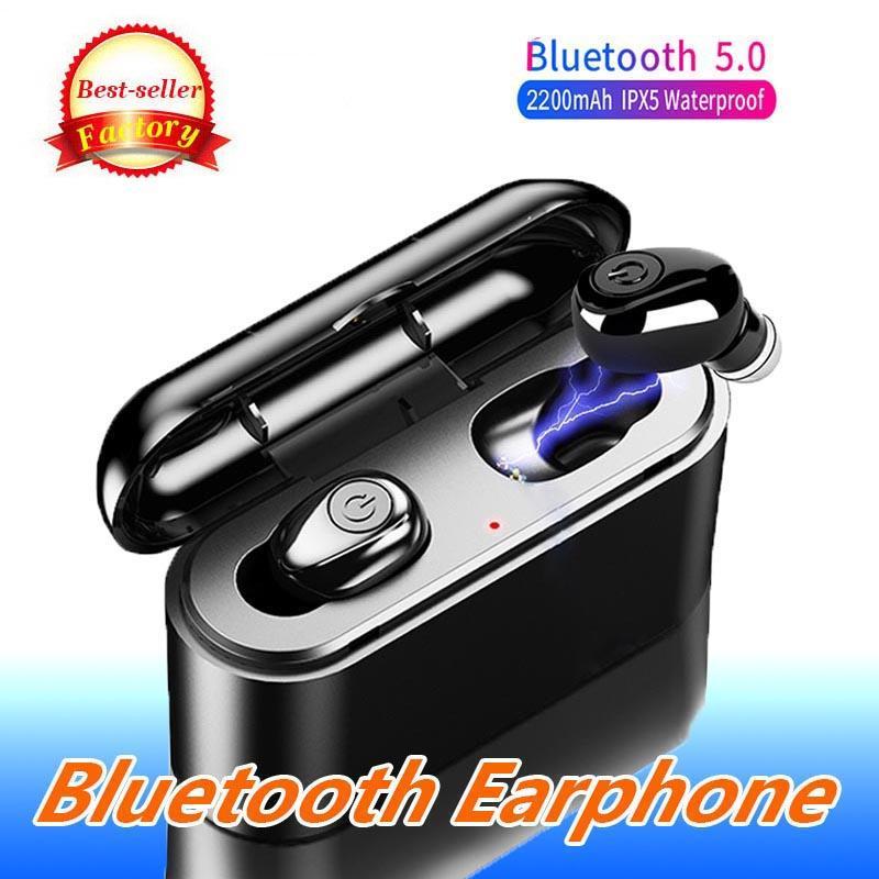 X8 Tws verdadeira sem fio Bluetooth 5.0 Earphones 5D Stereo Earbuds Mini Waterproof IPX5 Headphone 2200mAh carregamento Box para Xiaomi