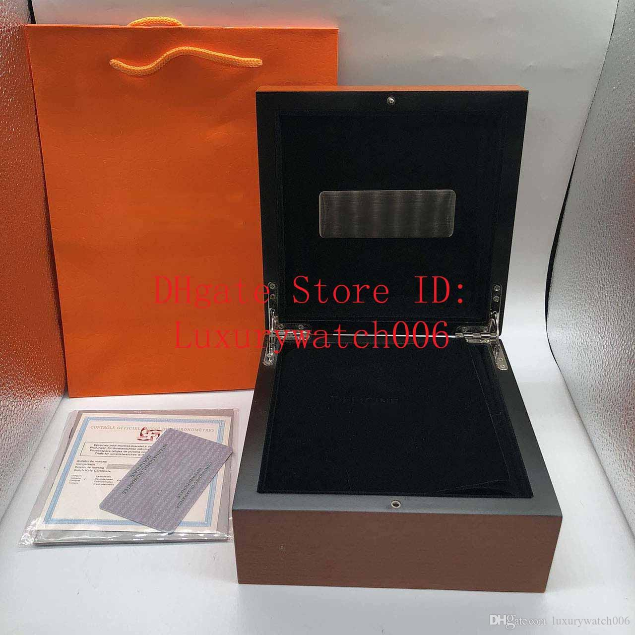 Factory Supplier Wholesale Mens For PAM Watch Box Original Wooden Inner Outer man's Watches Boxes Papers Wristwatch Good quailty.