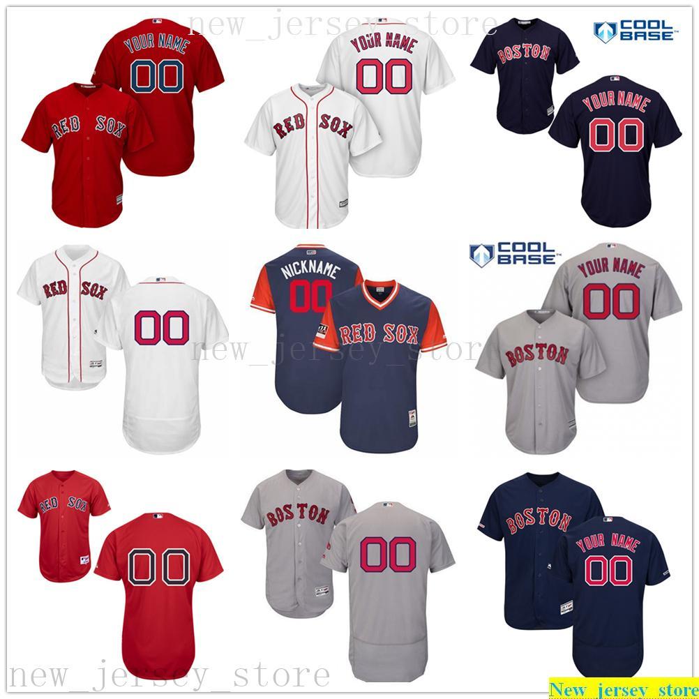 2019 Benutzerdefinierte Mens-Frauen-Jugend-Baseball-Shirts aus 100% genähtes Kinder Majestic Persönlichen Name Person Zahl Jerseys-Größe S-XXXL