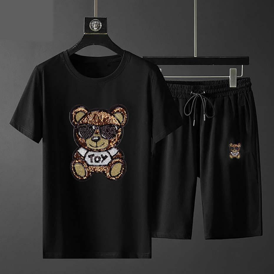 2020 мужских спортивная одежда T-рубашки мужской 2 шт установить новую моду Tracksuit спортивной одежды мужской спортивной толстовку весну