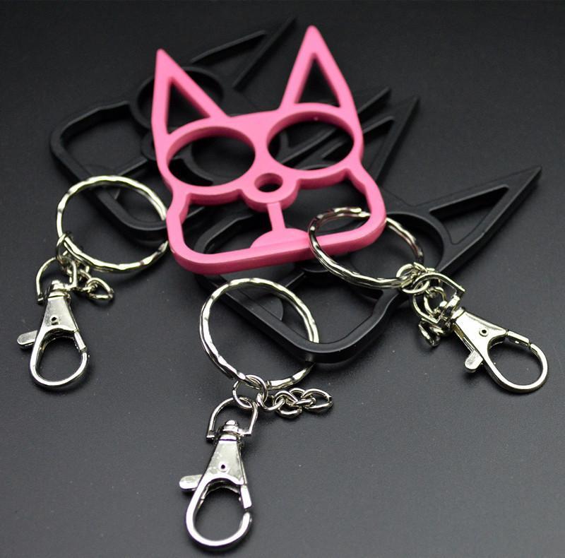 الدفاع عن النفس القط الجديد المفاتيح سلاح مشبك حلقة Sefl الدفاع لعبة نموذج خاتم في الهواء الطلق أربعة إصبع هدية أداة الأزياء عيد الميلاد سلاسل المفاتيح