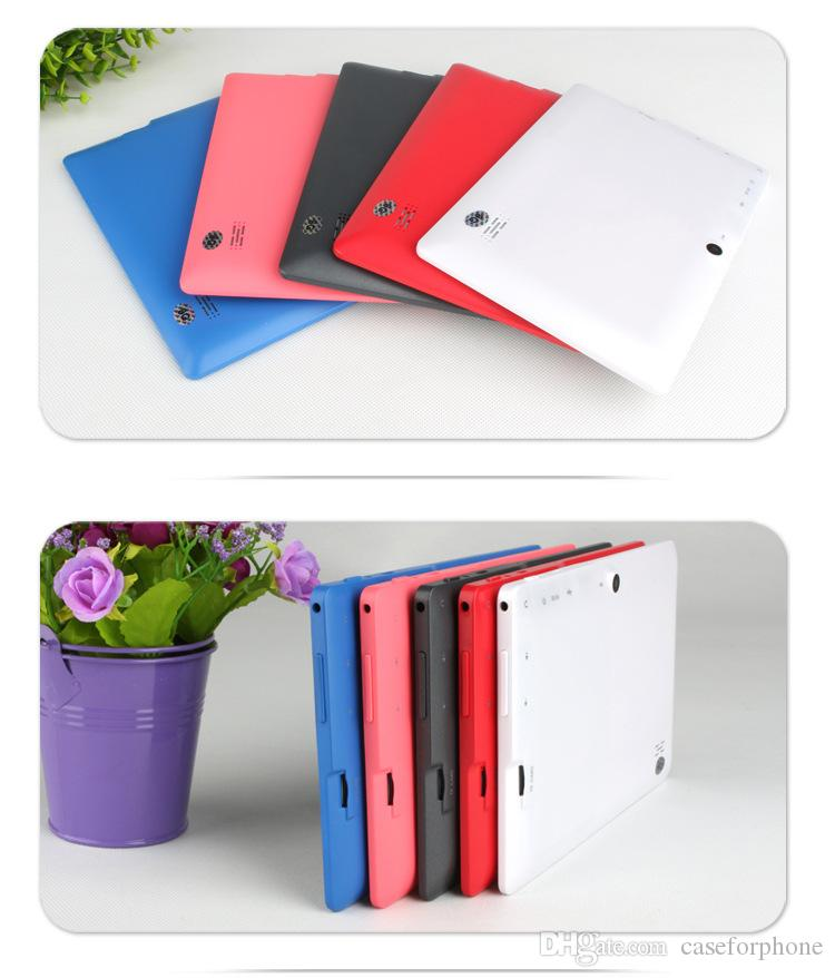 3000mAh Battery 7 inch Kids Tablet PC Q88 4GB Google Android 4.2 DUAL CORE Tablet PC Allwinner A33 1.5GHz Capacitive Screen Camera MID Wifi