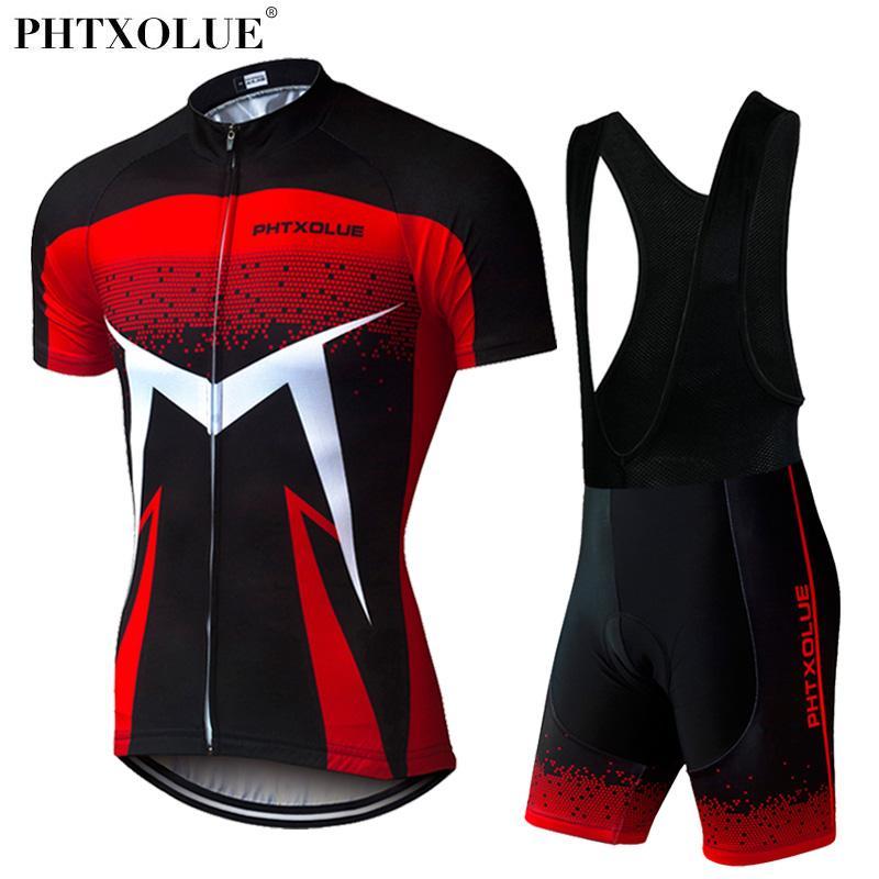 Phtxolue 2020 Yaz Kısa Kollu Erkek Bisiklet Giyim Nefes Bisiklet Formalar Seti Dağ Bisiklet Giyim Maillot Ropa Ciclismo