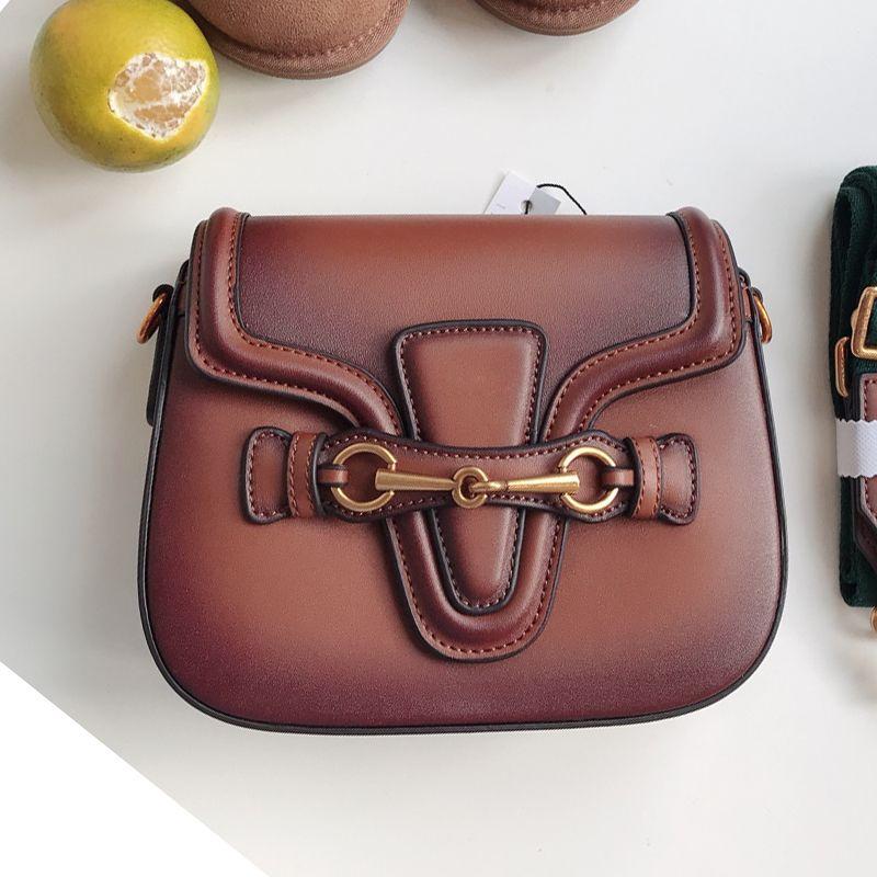 koraba Brand Logo Fashion Show Women's Saddle Shoulder Bag Handbag Crossbody For Women Genuine Leather Bags