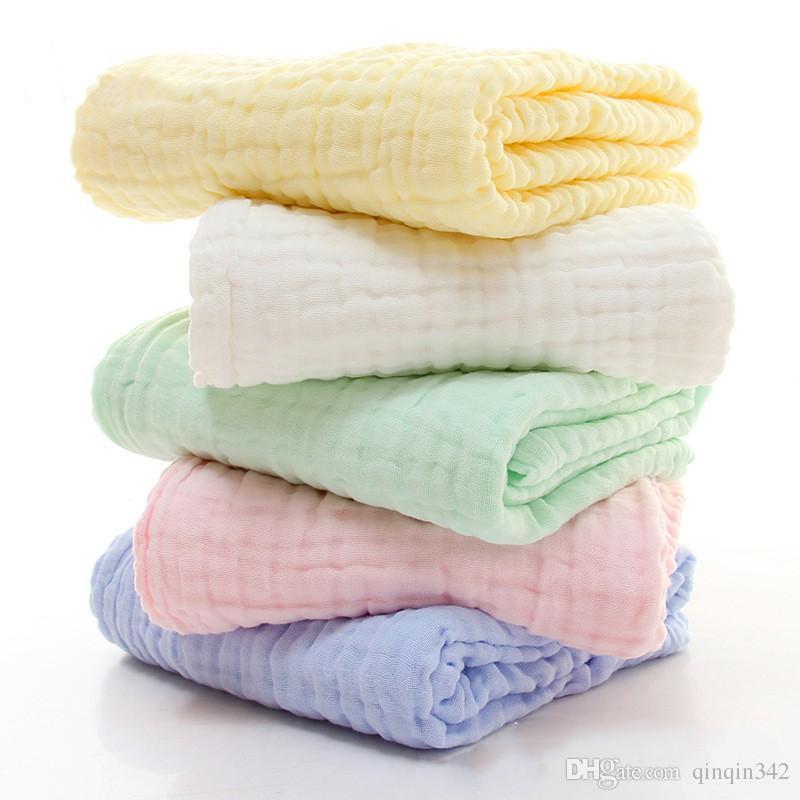 Cotton Muslin Blanket Swaddle cobertores para bebê macia Bebê recém-nascido Toalha de banho multi funções do bebê Embrulhe Crianças cama